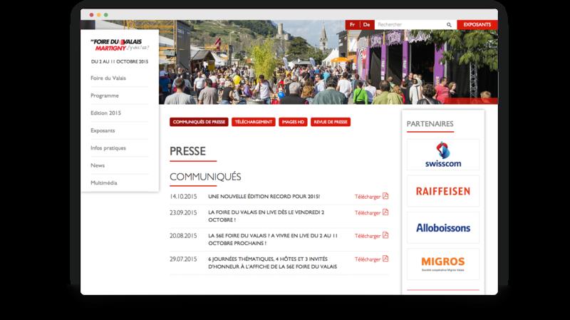 Espace presse/media