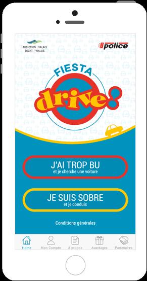 Application co-voiturage Fiesta Drive